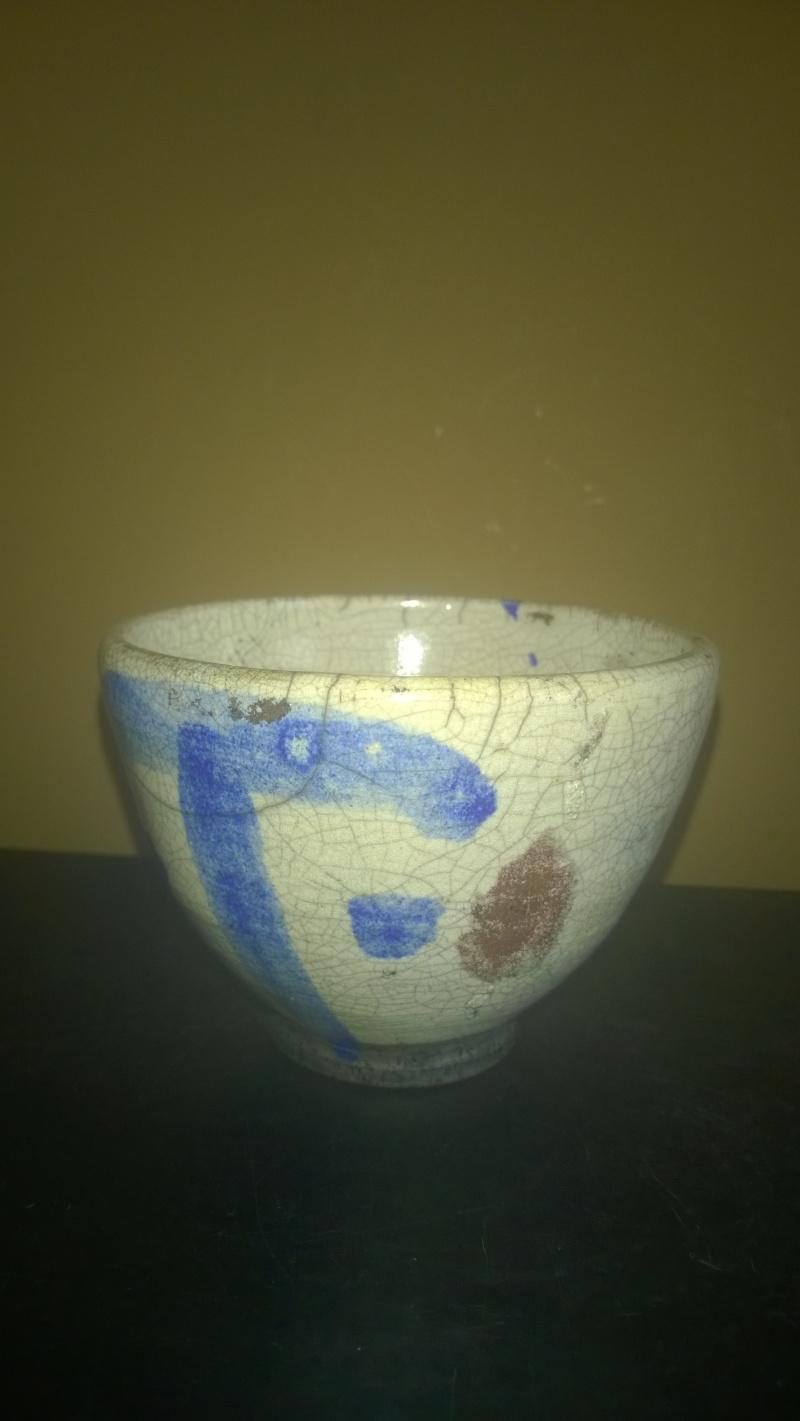 raku small bowl, signed - Brian Holland? Wp_20115