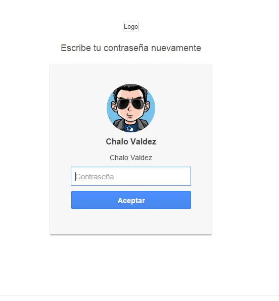 [Javascript] Login tipo google para el panel de administración  Screen17