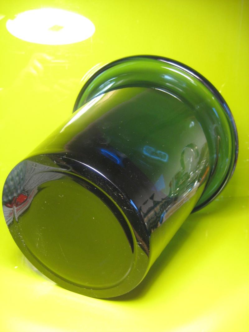 Large Heavy Folded Rim Ice / Champagne Bucket Cased Indigo Unsigned 01111