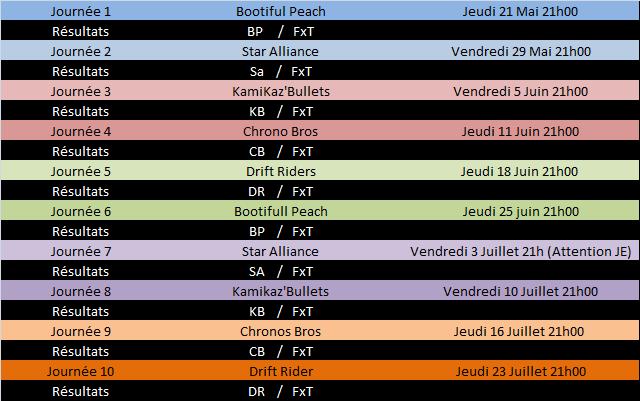 Calendrier Saison 3 MKL Division 3 Calend10