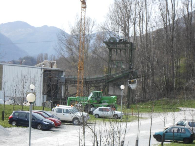 Construction téléphérique convoyeur de Talc Imerys Luzenac Dscn2412