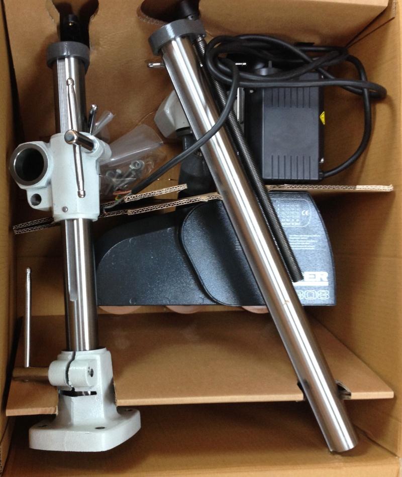 Installation d'un entraineur sur dégauchisseuse Hammer A 31 Img_3510