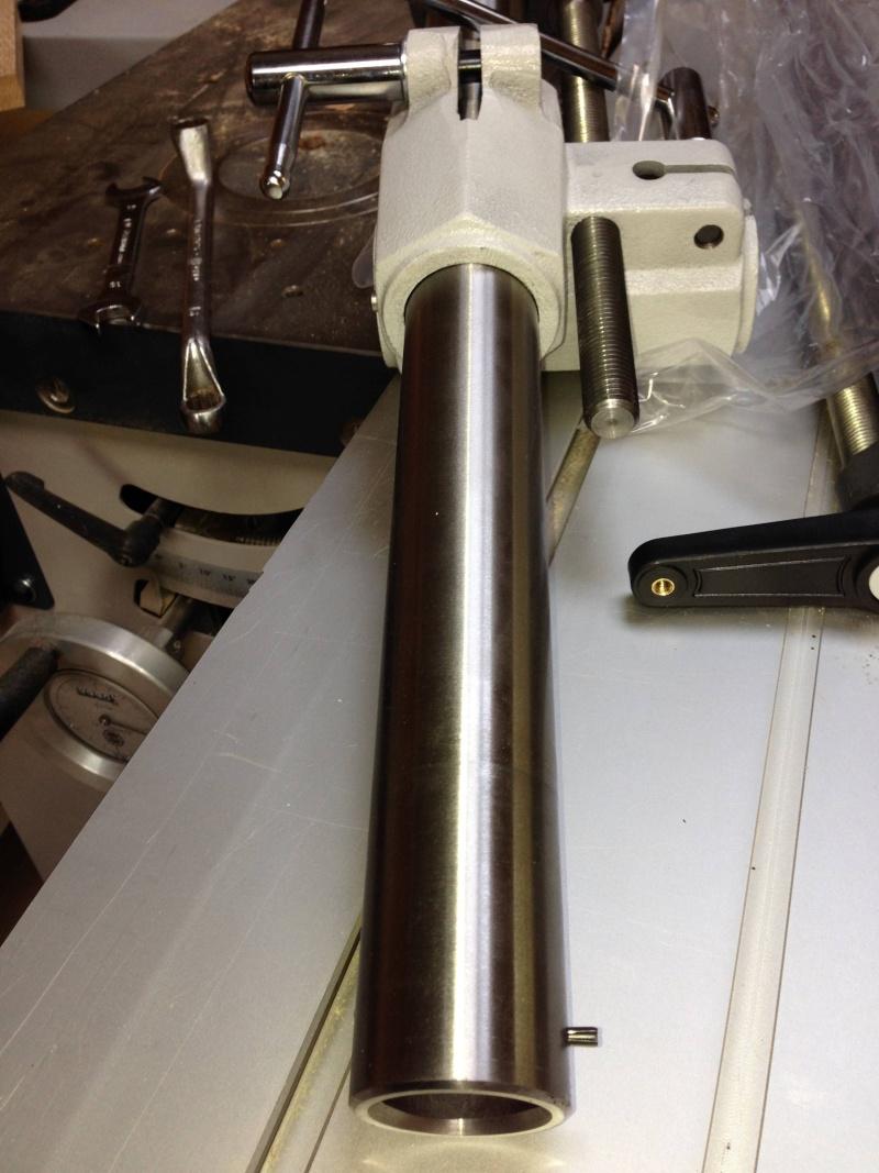 Installation d'un entraineur sur dégauchisseuse Hammer A 31 Img_3517