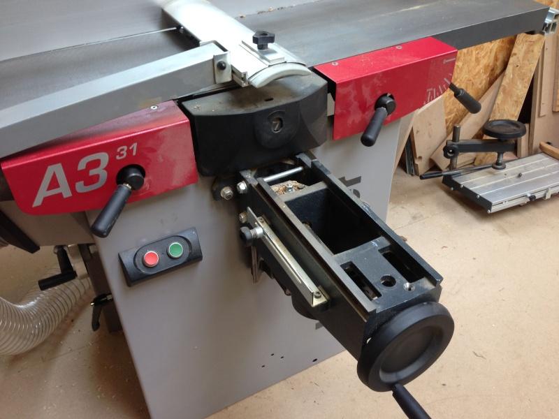 Installation d'un entraineur sur dégauchisseuse Hammer A 31 Img_3523