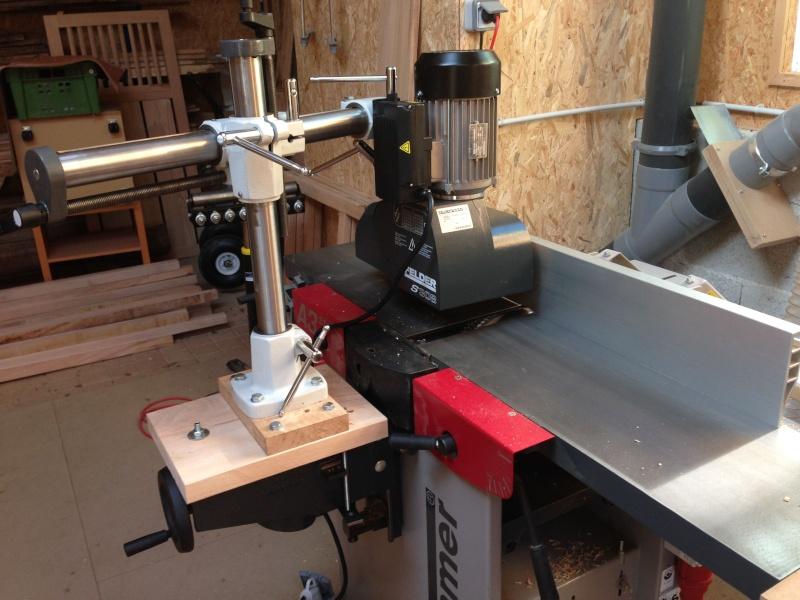 Installation d'un entraineur sur dégauchisseuse Hammer A 31 Img_3610
