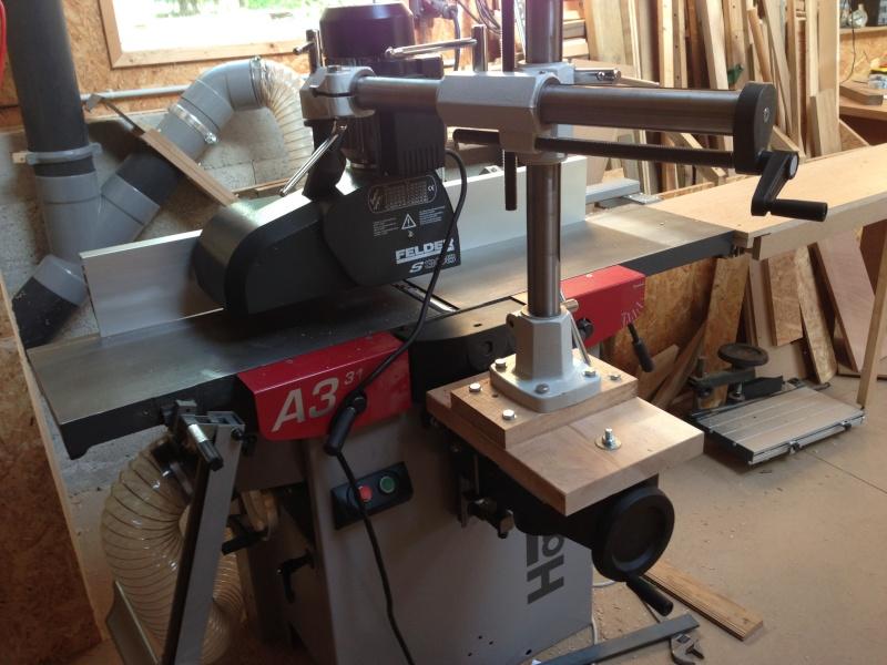 Installation d'un entraineur sur dégauchisseuse Hammer A 31 Img_3612