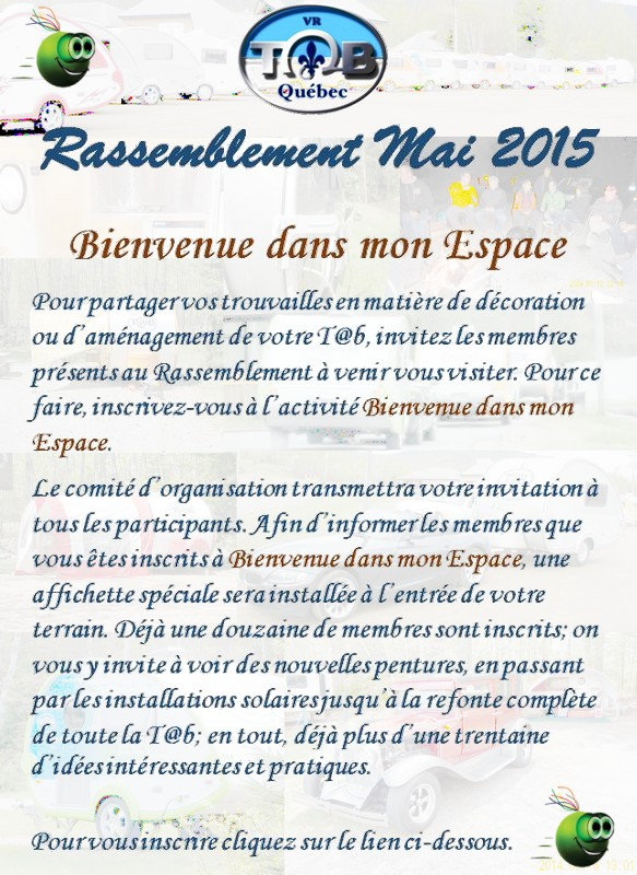 RASSEMBLEMENT MAI 2015 Informations officielles Bienve10