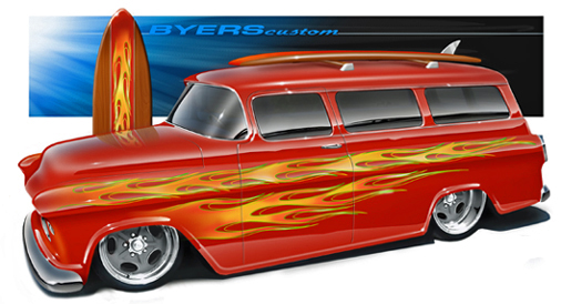 Jimmy Flintstone '55 - '57 Chevy Suburban 55_bur10
