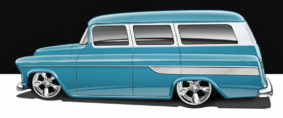 Jimmy Flintstone '55 - '57 Chevy Suburban 57sub-10