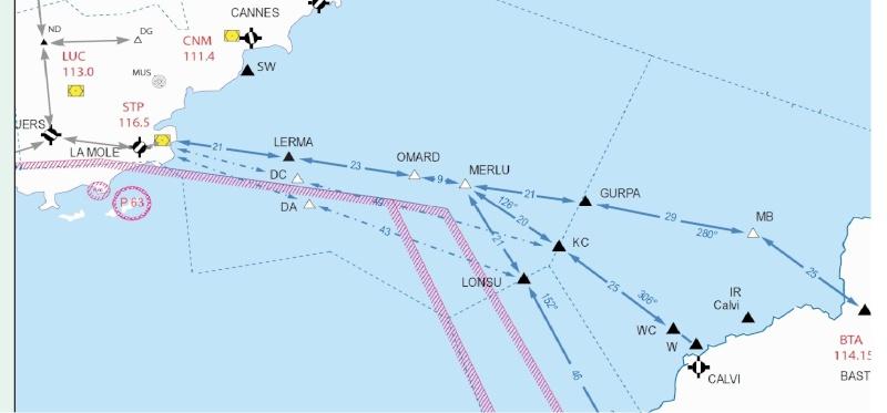 Traversée maritime VFR Route_10