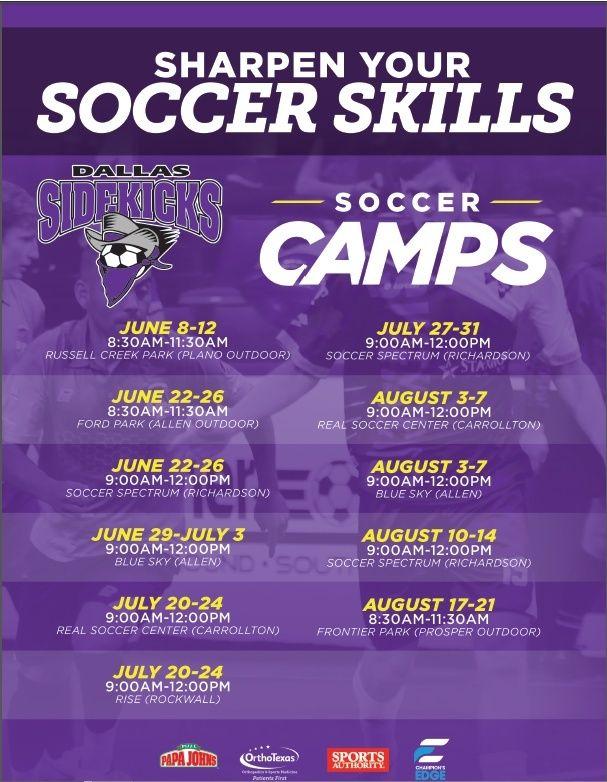Dallas Sidekicks Summer Camps Allcam12