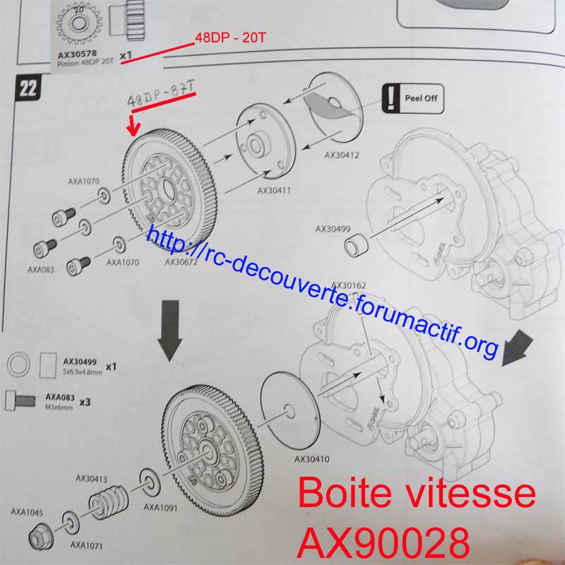 Découvrir les boites de transmission Axial et problème de refroidissement et fixation de moteur sur la boite de transmission de Axial SCX10 et Wraith 1-boit10