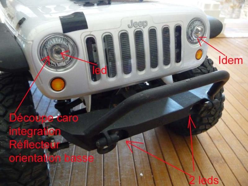 Fabriquer éclairage Led pour Scx10 et Scale Trial : feux avant, feux arrière, spot de toit, clignotants, gyrophares et feux de recul Pas Cher 4a-rub10