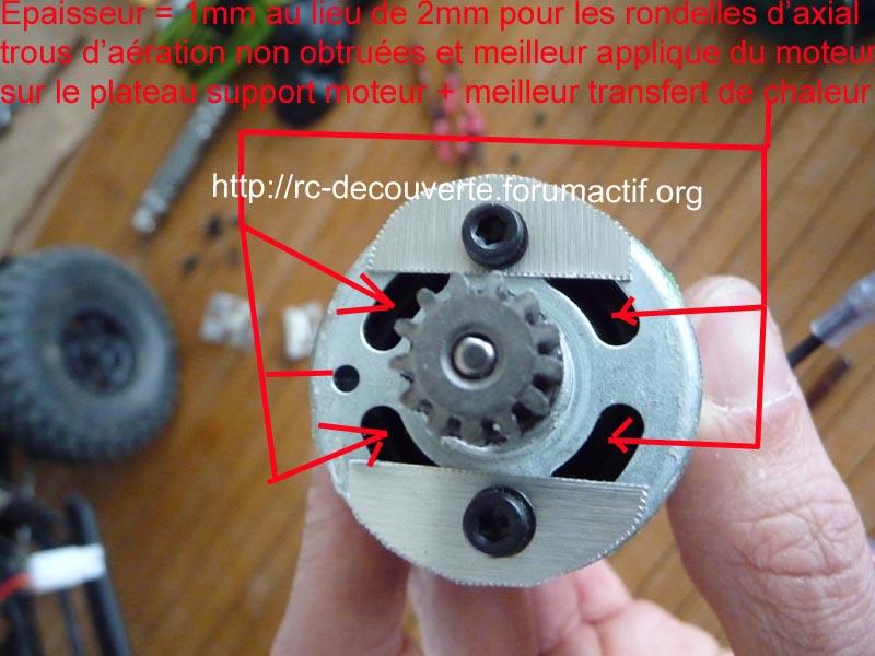 Découvrir les boites de transmission Axial et problème de refroidissement et fixation de moteur sur la boite de transmission de Axial SCX10 et Wraith 5-boit10