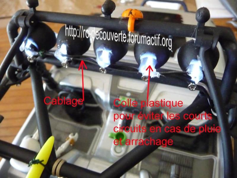 Fabriquer éclairage Led pour Scx10 et Scale Trial : feux avant, feux arrière, spot de toit, clignotants, gyrophares et feux de recul Pas Cher 5c-rub10