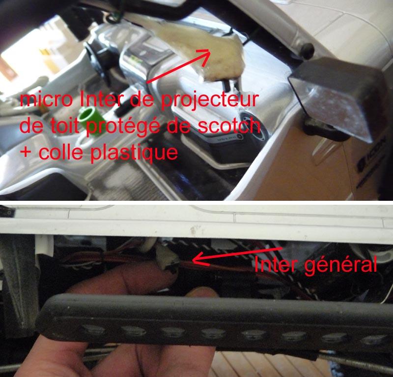 Fabriquer éclairage Led pour Scx10 et Scale Trial : feux avant, feux arrière, spot de toit, clignotants, gyrophares et feux de recul Pas Cher 5d-rub10
