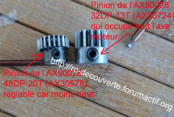 Découvrir les boites de transmission Axial et problème de refroidissement et fixation de moteur sur la boite de transmission de Axial SCX10 et Wraith 6-boit10