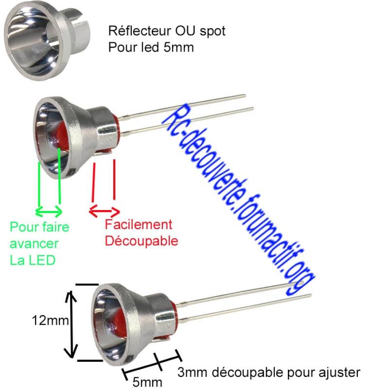 Fabriquer éclairage Led pour Scx10 et Scale Trial : feux avant, feux arrière, spot de toit, clignotants, gyrophares et feux de recul Pas Cher 8-refl10