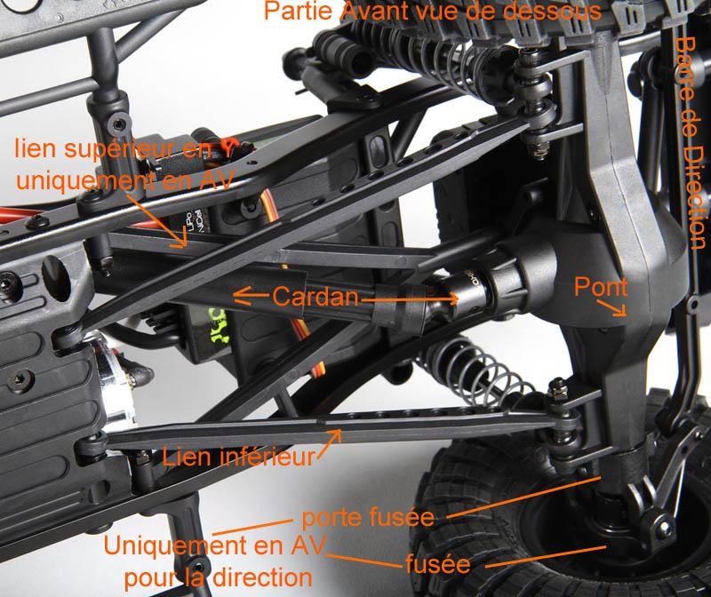 Qu'est ce que le Châssis SCX10 de la marque Axial échelle 1:10 tout terrain 4x4 électrique ? Axial-13