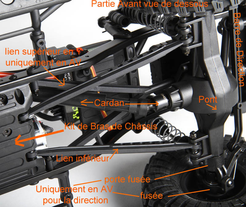 Fabriquer des protections de ponts de transmission en alu et protection de kit de bras de chassis en alu pour SCX10 et tout scale trial Chassi10