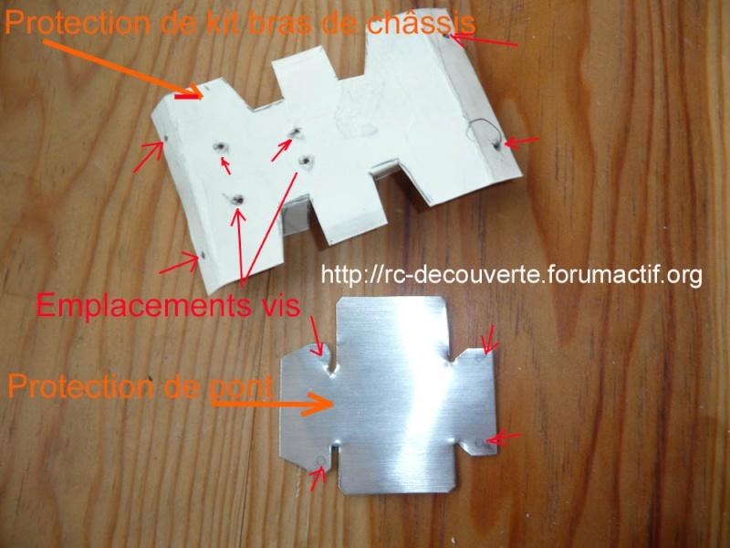 Fabriquer des protections de ponts de transmission en alu et protection de kit de bras de chassis en alu pour SCX10 et tout scale trial Fabric10