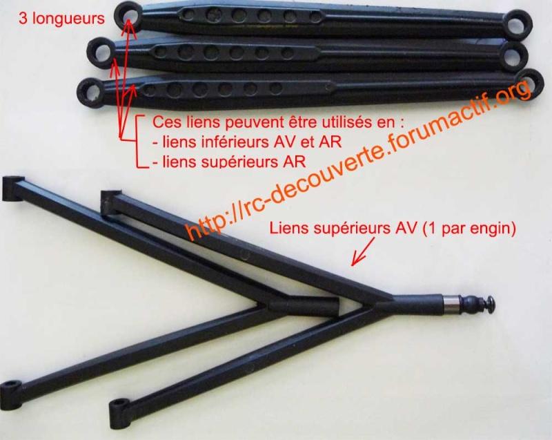 Remplacer les liens en plastique par des liens en métal de façon économique pour Scx10 et tout scale trial Liens-10
