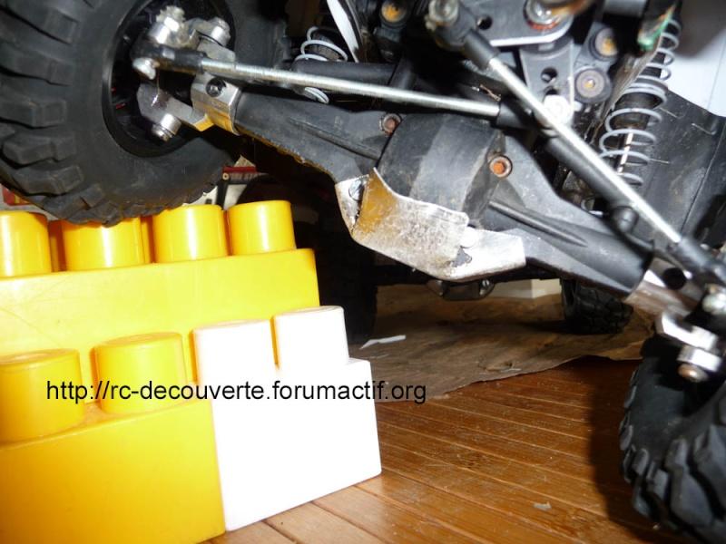 Fabriquer des protections de ponts de transmission en alu et protection de kit de bras de chassis en alu pour SCX10 et tout scale trial Protec12