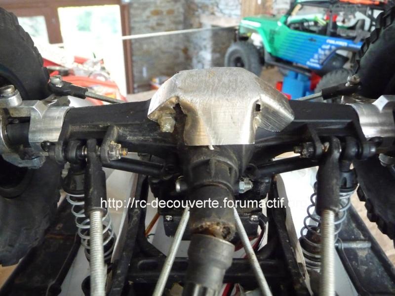 Fabriquer des protections de ponts de transmission en alu et protection de kit de bras de chassis en alu pour SCX10 et tout scale trial Protec16