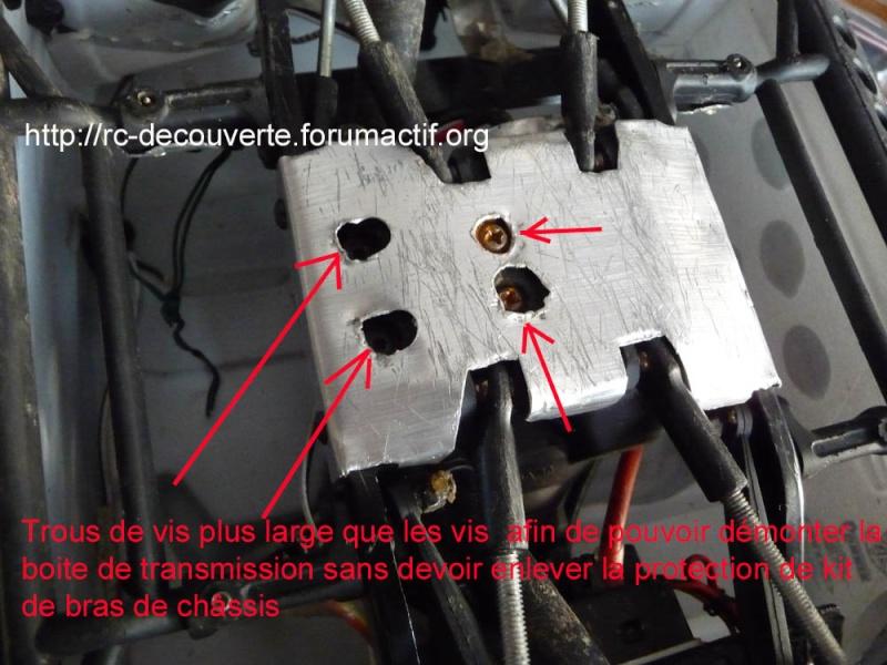 Fabriquer des protections de ponts de transmission en alu et protection de kit de bras de chassis en alu pour SCX10 et tout scale trial Protec20