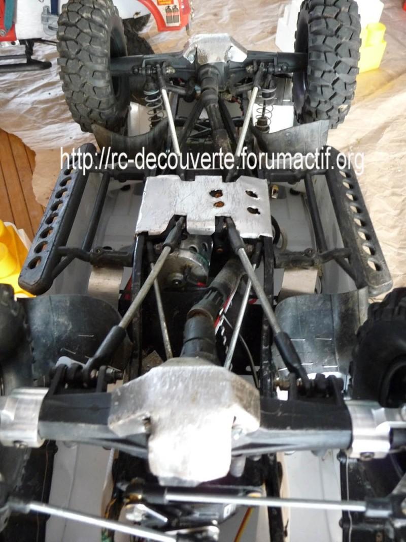 Fabriquer des protections de ponts de transmission en alu et protection de kit de bras de chassis en alu pour SCX10 et tout scale trial Protec21
