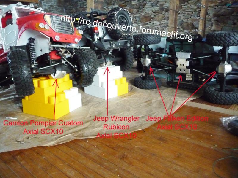 Fabriquer des protections de ponts de transmission en alu et protection de kit de bras de chassis en alu pour SCX10 et tout scale trial Protec22