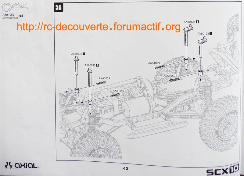 Augmentez ou optimiser la capacité de franchissement de votre SCX10 en réglant la hauteur de carrosserie Reglag10