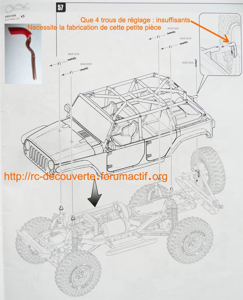 Augmentez ou optimiser la capacité de franchissement de votre SCX10 en réglant la hauteur de carrosserie Reglag11