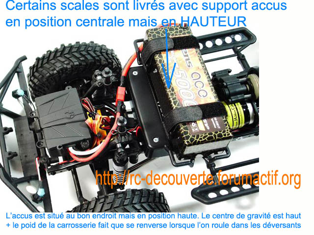 Changer la position du support d'accus pour un meilleur centre de gravité du SCX10 et tout Scale Trial Scales12