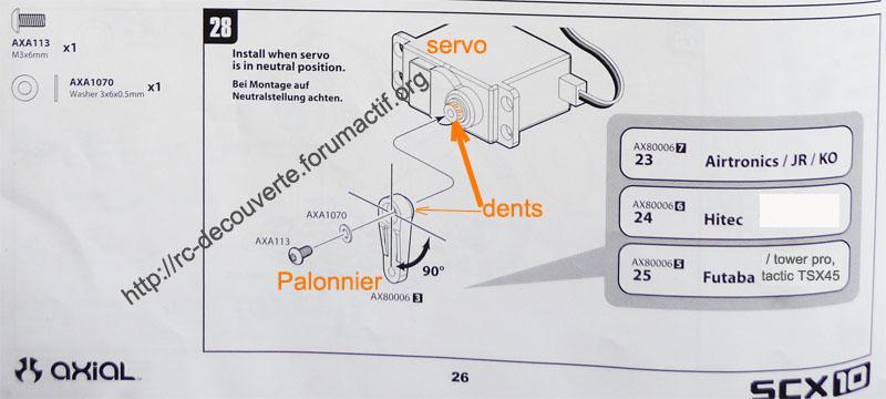Choisir son servo et étancher votre servo pour SCX10 et Scale Trial Servo-14