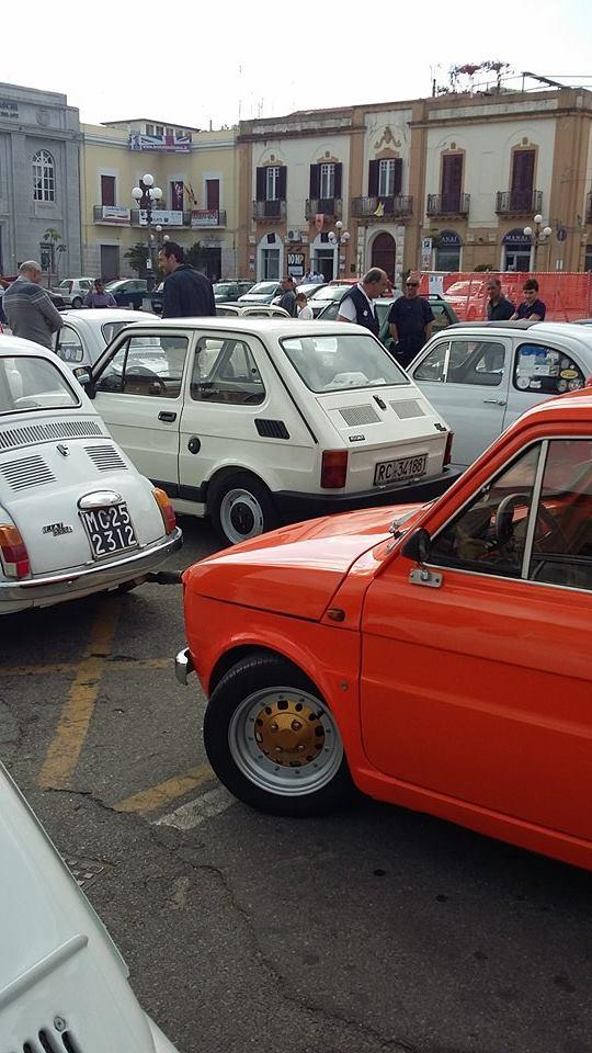 Raduno Fiat 500,derivate e auto Storiche italiane Palmi RC 24/05 410