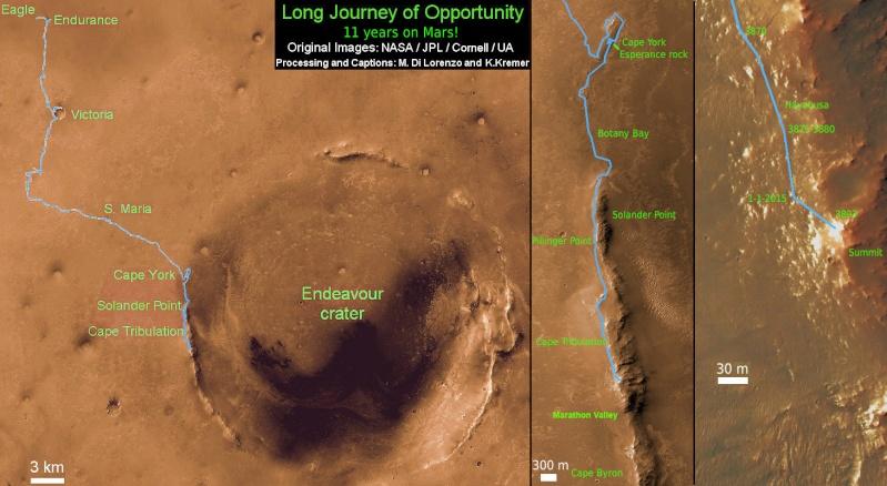 Opportunity et l'exploration du cratère Endeavour - Page 9 Opport10