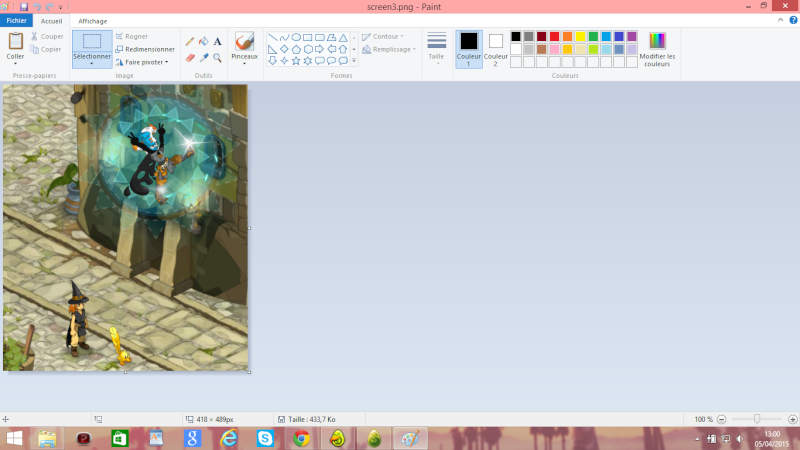 Faire un screen et le poster (Paint) Screen10