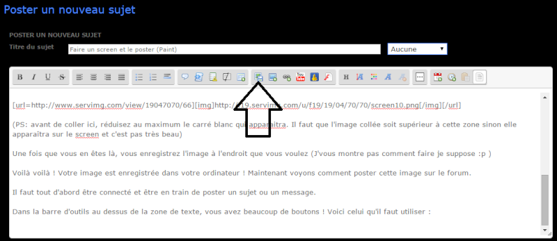 Faire un screen et le poster (Paint) Screen12