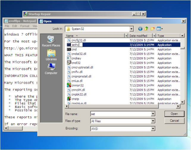 hack - How to hack into a Password Locked Windows 7 system using CMD Pictur11