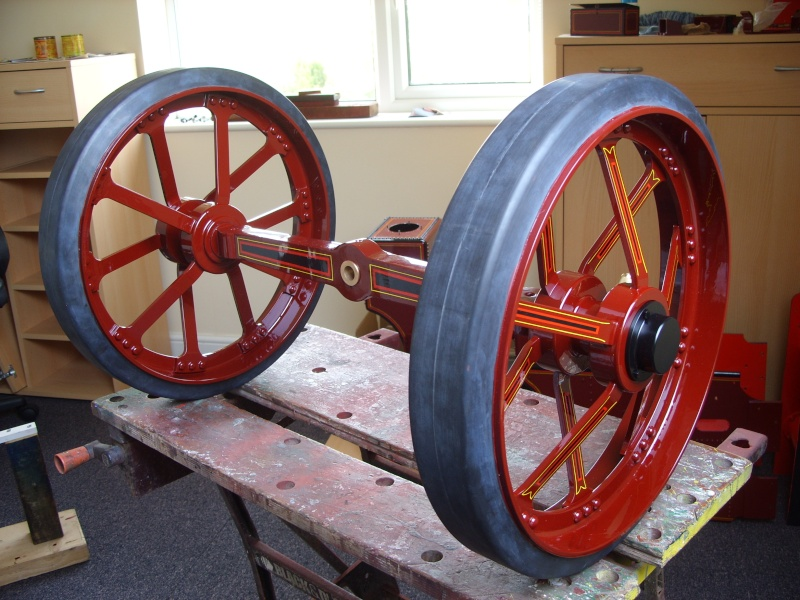 Front wheels and belly tank progress on Burrell SCC. Ss854917