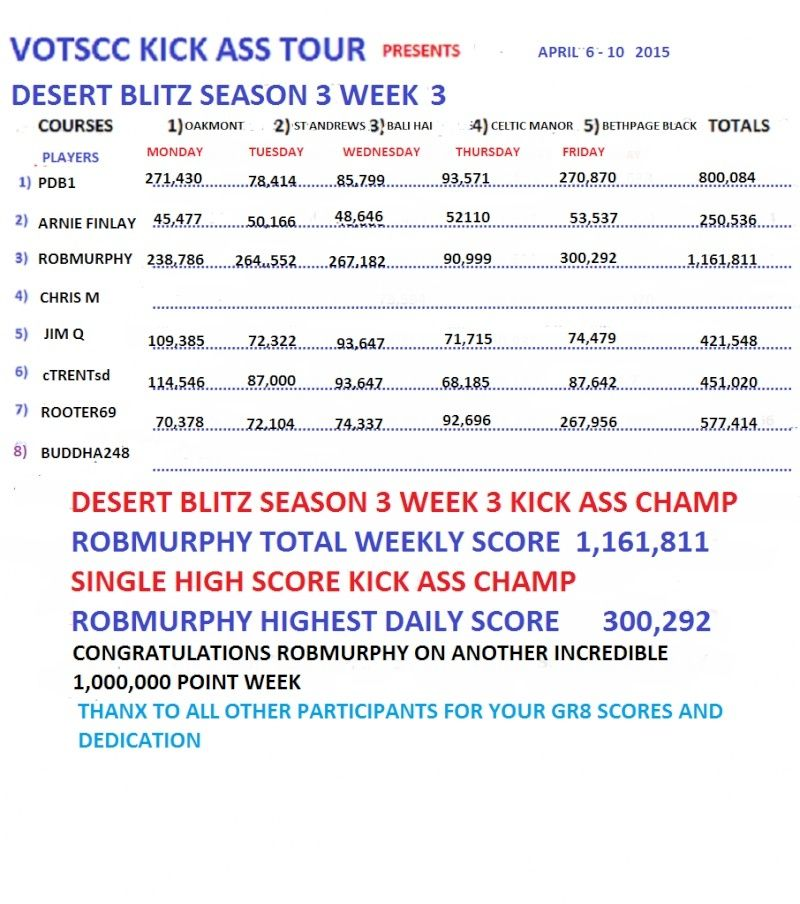 VOTSCC 1,000,000 POINTS  IN A WEEK SEASONS Desert16