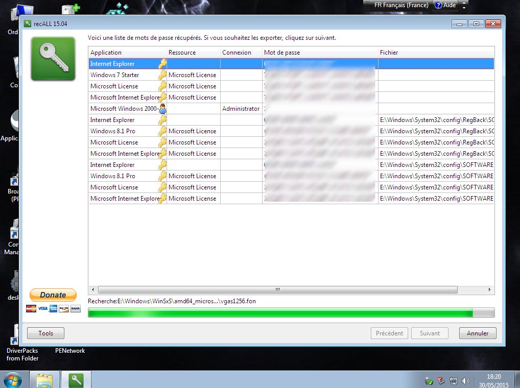 recALL/Winfokeys : recuperer les licences de windows et des programmes Recall11