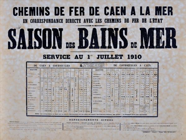 Le chemin de fer Caen-La mer Horair10