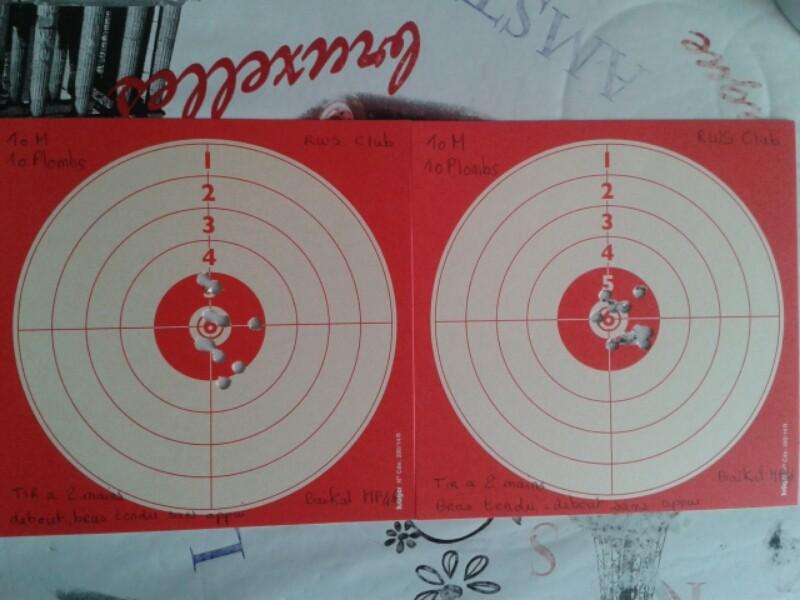 premiers et second cartons fait avec mon baikal mp46. 2015-013