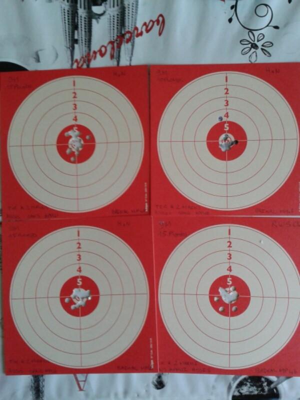 cartons baikal mp46 a 9M avec un peut d'entraînement.  2015-015