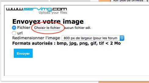 Comment insérer une image dans un message ? 0210