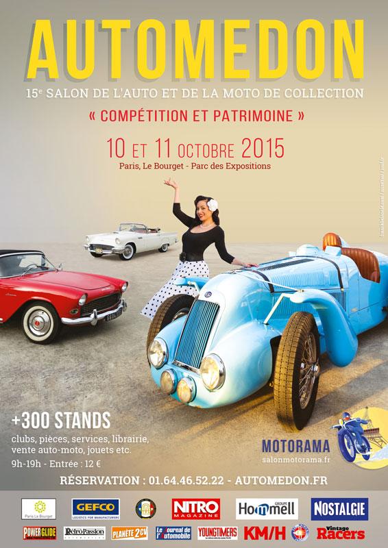 Salon Automedon - Motorama au Bourget 10-11 OIctobre Affich10