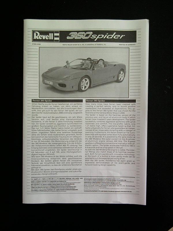 Revell Ferrari 360 Spider 1:24 02_13