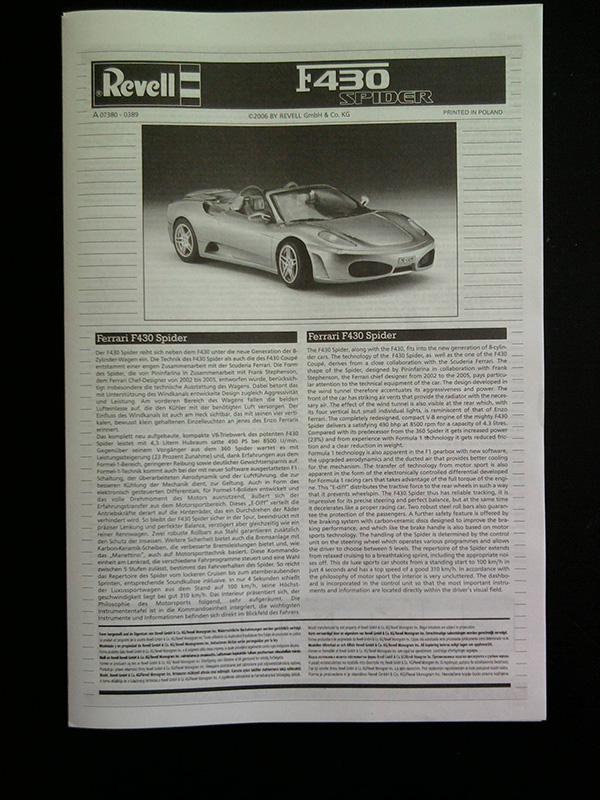 Revell Ferrari F-430 Spider 1:24 02_14